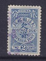 China Chine Portomarke 1904 Mi. 9    2 C. Postage Due Imperial Post - China