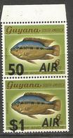 Guyana - 1981 Air Overprint Pair MNH **    SG 862-3 - Guyana (1966-...)
