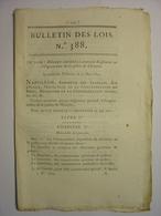BULLETIN DES LOIS De 1811 - POLICE DE L' EMPIRE - JUSTICE ITALIE - NOTAIRES - LOMMEL - VERRERIE LODELINSART BELGIQUE - Décrets & Lois