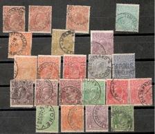 AUSTRALIA1914-36:Lot Of 22 King George(used) - 1913-36 George V: Heads