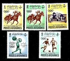 AFGHANISTAN 660/664* 4ème Jeux Olympiques Asiatiques à Djakarta - Afghanistan