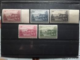 NORFOLK Island , 1947, Serie Courante 5 Timbres, Yvert 7 / 11, Neufs ** MNH , TTB - Ile Norfolk