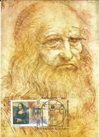 Macedonia / Repubblica Di Macedonia - 550 Anni DELLA NASCITTA DEL DI LEONARDO DA VINCI - Maximum Card 01/2002 - Macedonia