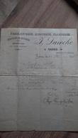 Facture Réparations Travaux Bâtisse Sénas Bouches Du Rhône Laroche 1908 Ferblanterie Zinguerie Plomberie - Petits Métiers