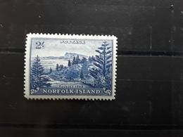 NORFOLK Island , 1959  Serie Courante , Yvert  No 24, 2 Shilling Bleu , Neuf ** MNH , TTB Cote 50 Euros - Ile Norfolk
