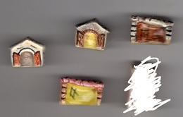 RARE Lot 4 Fèves MAURIN - Maison, Maisonnette & étable - Olds