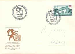 Schweiz Suisse 1949: Mit O EXPOSIZIUN CANTONAL GRISCHUNA DE MARCAS POSTALAS CUERA 27.XI.49 (mit Cachet) - Langues