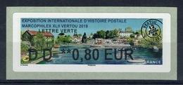 "France, ATM Label, Philatelic Exhibition ""Marcophilex"", Vertou, 2018, 0,80€, MNH VF - 2010-... Illustrated Franking Labels"