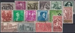 ESPAÑA 1959 Nº 1238/1253 AÑO USADO COMPLETO 16 SELLOS - Años Completos