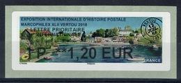 "France, ATM Label, Philatelic Exhibition ""Marcophilex"", Vertou, 2018, 1,20€, MNH VF - 2010-... Illustrated Franking Labels"