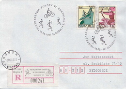 Postal History: Poland R Cover With Duathlon Cancel - Stamps