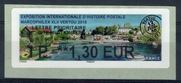 "France, ATM Label, Philatelic Exhibition ""Marcophilex"", Vertou, 2018, 1,30€, MNH VF - 2010-... Illustrated Franking Labels"