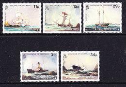 Alderney 1987 Shipwrecks 5v ** Mnh (41401) - Alderney