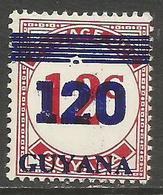 Guyana - 1984 Numerals Surcharge 120c/12c MNH **    SG 1402 - Guyana (1966-...)
