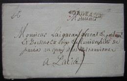 """21 Juillet 1789 Marque De Bordeaux Sur Une Lettre Pour Paris, Où L'auteur S'inquiète Des """"événements"""" (Révolution) - Postmark Collection (Covers)"""