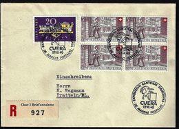 Schweiz Suisse 1949: Zu WII42 Mi 525 Yv 477 O EXPOSIZIUN CANTONAL GRISCHUNA DE MARCAS POSTALAS CUERA 27.XI.49 - Schweiz