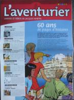 Martin - Univers Alix Lefranc - Journal Promo L'aventurier 8 - Livres, BD, Revues