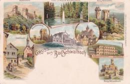300628Gruss Aus Bad Schwalbach Litho 28-08-1900 Mit Zugstempel (sehe Ecken) - Bad Schwalbach