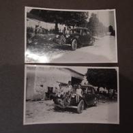 2 Photos AUTOMOBILE Voiture Ancienne Citroën Traction Dans Une Ferme 8586 QA 1 - Cars