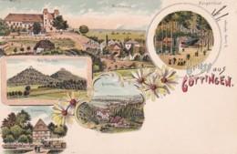 300631Gruss Aus Göttingen Litho Mit Kleine Falte In Der Mitte (sehe Rückseite) - Goettingen