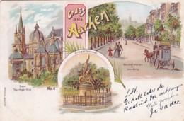 300632Gruss Aus Aachen Litho - Aachen