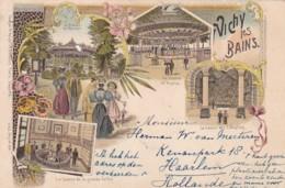 300643Vichy Les Bains, Litho 20-06-1898 (Timbre Arraché, Trou, Petite Plis Coin) - Vichy