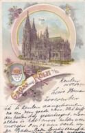 300649Gruss Aus Köln , Glitzern Karte, 15-10-1900 - Koeln