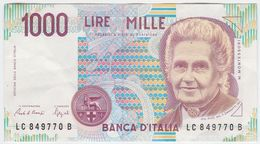 Italy P 114 A - 1000 1.000 Lire 3.10.1990 - VF - [ 2] 1946-… : République