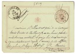 BR-5629  CARTE CORRESPONDANCE  1875   DC  TEMPLEUVE - 1869-1888 Lying Lion