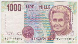 Italy P 114 B - 1000 1.000 Lire 3.10.1990 - VF - [ 2] 1946-… : République