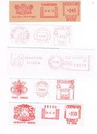 Niederlande 6 Freistempel Breda, Zierickzee, Ijmuiden, Velsen, Vlaardingen - Wappen, Coat Of Arms, Blason - Meterstamp - Affrancature Meccaniche Rosse (EMA)