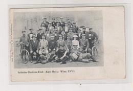 AUSTRIA WIEN XVIII KARL MARX Bicycle Club Nice Postcard - Sonstige
