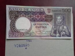 500 Escudos Colonia Portuguesa Angola  1973 ( Erro) - Portugal