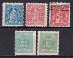 Deutsches Reich Privatpost Hamburg D HAMMONIA Mi.-Nr. 1-3 (unten Inschrift Hamburg) - Private