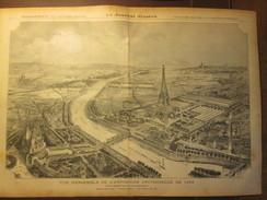 Gravure 1886 Paris Vue  D'Ensemble De L Exposition  Universelle  De 1889 Tour Eiffel - Prints & Engravings