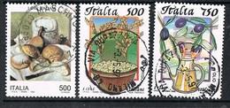 1994/95 - ITALIA / ITALY - IL CIBO / THE FOOD - LOTTO DI FRANCOBOLLI / LOT OF STAMPS - USATO / USED - Alimentazione