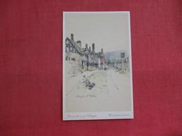 England > Worcestershire Signed Artist  Broadway Village    Ref 3087 - Worcestershire
