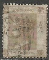 Hong Kong - 1865 Queen Victoria 2c Used    SG 8a  Sc 8 - Hong Kong (...-1997)