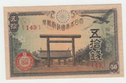 JAPAN 50 SEN 1942 - 1944 VF++ Pick 59 - Japon