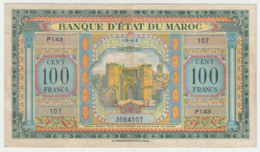 Morocco 100 Francs 1943 VF+ Pick 27 - Maroc