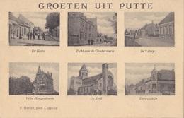 PUTTE 1920 DORPSZICHT GRENS GENDARMERIE KERK VILLA HOOGENBOOM - HOELEN KAPELLEN - Kapellen