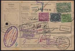 Deutsches Reich Infla Ausland Paketkarte Berlin - Näfels Schweiz 1923 (21651 - Germany