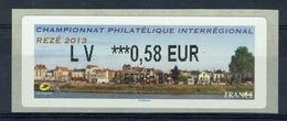 France, ATM Label, Philatelic Exhibition, Rezé, 2013, 0,58€, MNH VF - 2010-... Illustrated Franking Labels