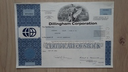 Historische Aktie Der Dillingham Corporation Von 1981 - Hist. Wertpapiere - Nonvaleurs