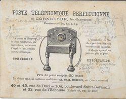 DOCUMENT PUBLICITAIRE COMMERCIAL POSTE TÉLÉPHONIQUE PERFECTIONNE DE CORNELOUP PARIS SEINE 75 - Other