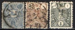 IRAN - 1885 - STEMMA DELL'IRAN E SHAH NASR-ED-DIN - USATI - Iran