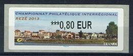 France, ATM Label, Philatelic Exhibition, Rezé, 2013, 0,80€, MNH VF - 2010-... Illustrated Franking Labels