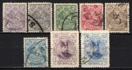 IRAN - 1902 - STEMMA DELL'IRAN ED EFFIGIE DI MUZAFFAR-EDDIN-SHAH - USATI - Iran
