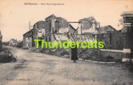 CPA 02 GUERRE MONDIALE 1914 1918 CHAUNY RUE DE CAMP SOLENT - Chauny