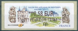 France, ATM Label, Philatelic Exhibition, Angers, 2011, 0,58€, MNH VF - 2010-... Illustrated Franking Labels